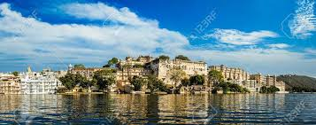 India Luxury Tourism Concept Background - Panorama Of Udaipur ...
