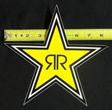Rockstar Energy Drink 8 Logo Sticker Star Decal Bmx Car Truck Window Moto Phone Ebay