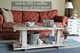 diy door turned coffee table the