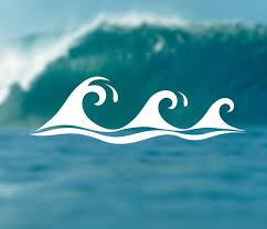 Waves Decal Adventure Sticker Surfing Decal Beach Sticker Car Window Decal Bumper Sticker Laptop Decal Summer Decal Phone Deca Car Decals Surfing Waves
