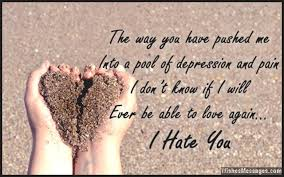 i hate you messages for ex husband hate you messages for him