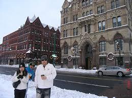 early snowfall central park