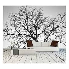 Dead Tree Branch Black And White Wall Murals