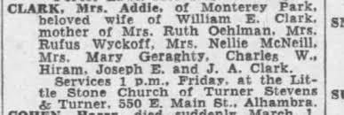 Obituary Addie Clark - Newspapers.com