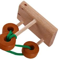 wooden puzzle set solution rope central