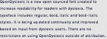 new font helps dyslexics read clearly