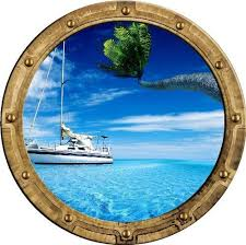 Amazon Com 12 Portscape Wall Decal Instant Window Sail Boat Sailboats 1 Wall Sticker Portal Port Hole Port Scape Decor Home Kitchen