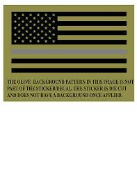 Thin Silver Line American Flag Corrections Officers Window Decal Sticker