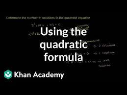 using the quadratic formula number of