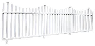Manchester Semi Permanet Vinyl Picket Fence Kit With Posts 2 Pack Transitional Home Fencing And Gates By Wambam Fence Inc