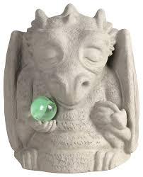 meditating dragon gargoyle statue