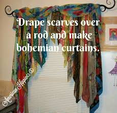 american hippie diy scarf curtains