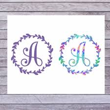 Yeti Cup Decal Single Initial Decal Tumbler Monogram Decal Etsy Initials Decal Monogram Decal Stickers Monogram Decal