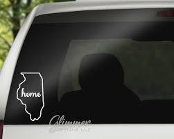 Illinois Decal Car Decal Vinyl Decal Decal Car Window Etsy
