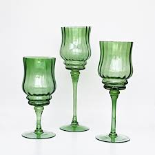 long stem glass tealight candle holders