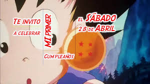 Invitacion Cumpleanos Dragonball Gof Youtube