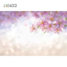 Laeacco الربيع لامعة منقطة الوردي زهر زهرة الطفل صورة صور الخلفيات