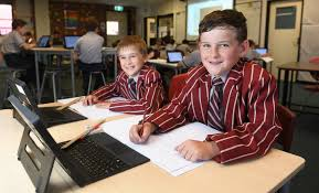Byron Reynolds and Madyson Rapmund from Ipswich Grammar School.   Buy  Photos Online   Northern Star