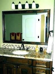 trim bathroom mirror inexpensive and