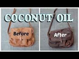 soften leather with coconut oil