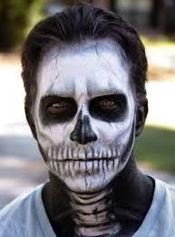 skull makeup man with beard saubhaya