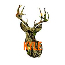 Amazon Com Personalized Deer With Name Vinyl Decal For Yeti Tumbler Rtic Cup Laptop Car Window Accessories For Men Camo Deer You Choose Size And Name Color Handmade