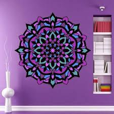 Decor Decals Stickers Vinyl Art Colorful Mandala Vinyl Decal Home Garden Vibranthns Lk