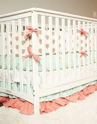 baby girl bedding gold heart nursery