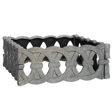 aged granite square cast stone iron