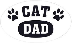 Amazon Com Cafepress Cat Dad B W Oval Bumper Sticker Euro Oval Car Decal Home Kitchen