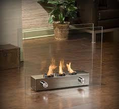 glass portable fireplace google