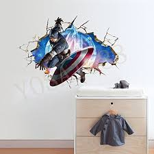 Yosa Super Hero Captain America Marvel Avengers Wall Stickers Boys Kids Room Decal Buy Online In Cambodia Yosa Products In Cambodia See Prices Reviews And Free Delivery Over 27 000 Desertcart