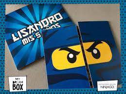 Tarjetas Invitacion Solapa Evento Cumple Ninjago Lego 371 00