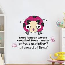 Zoomie Kids Creative Lady Bug Vinyl Wall Decal Wayfair