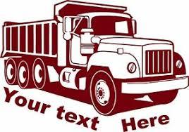 Custom Construction Dump Truck Business Dot Semi Car Window Vinyl Decal Sticker Ebay