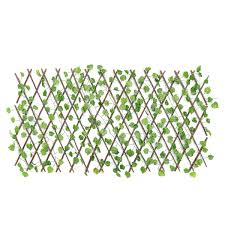 Expandable Artificial Faux Ivy Leaf Hedge Panels On Roll Garden Screen Fence Decorations Sale Banggood Com