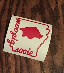 Arkansas Razorback Quot Woopig Sooie Quot Decal Yeti Decal Car Decal Vinyl Decal Yeti Decals Car Decals Vinyl Vinyl Decals