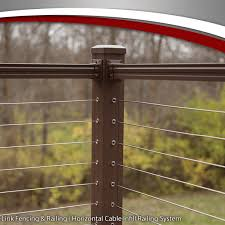 Horizontal Cable Infill Railing System Key Link Fencing Railing