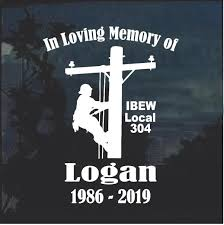 Ibew Local 304 Logan Special Order 50 7 Decals Custom Sticker Shop