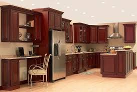paint kitchen with cherry cabinets