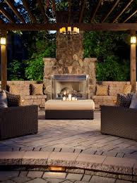 outdoor patio fireplace bench seating