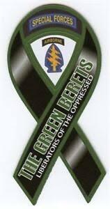 4 18 Green Berets Army Military Car Ribbon Vinyl Decal Ebay