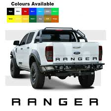 New Brand Ford Ranger Rear Tailgate Boot Sticker Decal Stickers Decals 4x4 Off Road 6 Color Choose Wish