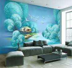 Wall Paper For Kids Room Custom Beautiful Tree Landscape Home Decoration Background Wallpaper For Walls 3 D Mural 3d Beach Wallpapers Beautiful Wallpaper From Maomao55 17 84 Dhgate Com