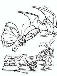 Butterfree And Golbat Pokemon Coloring Pages Pokemon Coloring