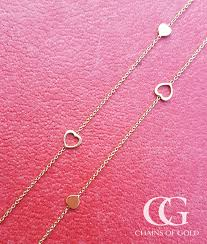 9ct yellow gold infinity heart chain