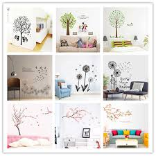 Peach Blossom Twig And Tree Dandelion Vinyl Wall Sticker Kids Room Living Room Bedroom Background Mural Home Decor Supplies Aliexpress