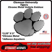 College Ncaa Clemson University Tigers Chrome Metal Car Auto Emblem Decal Ships Fast Sports Mem Cards Fan Shop Cub Co Jp