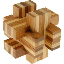 bamboo wood puzzle cross roads wood