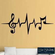 Music Pulse Symbol Cool Studio Living Room Wall Art Stickers Decals Vinyl Decor Ebay